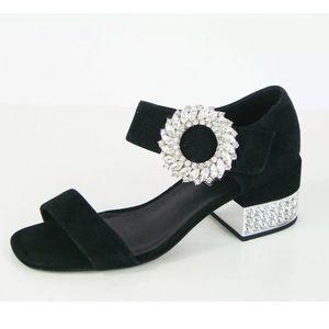 Jeffrey Campbell Kaylene Crystal Embellished Heel